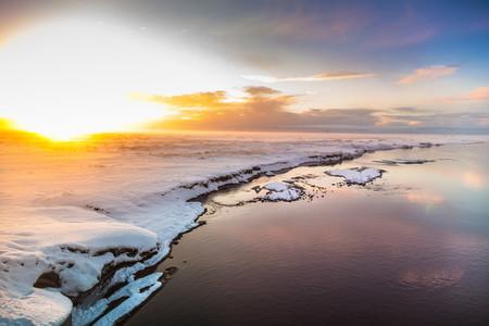 Sunset Landscape Iceland