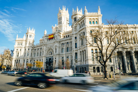 MADRID  SPAIN  26TH DECEMBER  2019  Palacio de comunicaciones de Madrid  current City Hall for the day