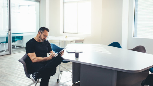 Entrepreneur in a modern office space