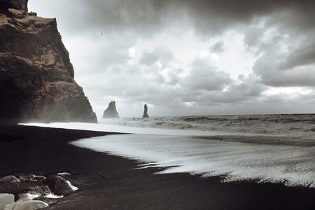 Black Sand Beach  Vik  Iceland