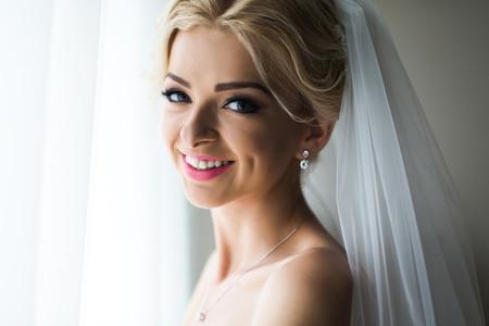 Morning portrait of beautiful bride