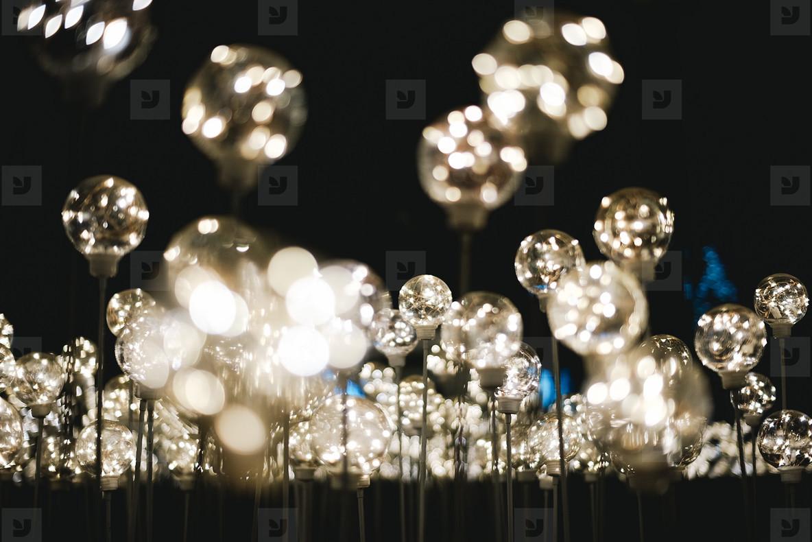 Abstract light bulbs