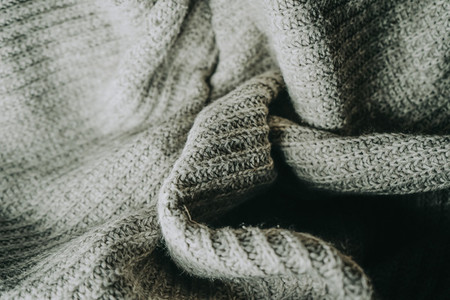 Detail of woolen warm clothes