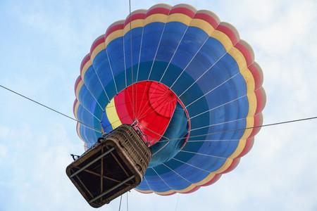 Captive balloon in Aeroestacion Festival in Guadix
