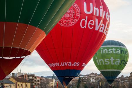 GUADIX  GRANADA  SPAIN  FEBRUARY 1ST  Captive balloons in Aeroestacion Festival