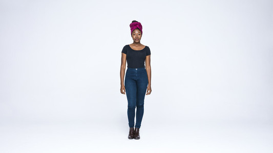 African woman in a headwrap