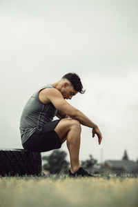 Athlete feeling tired after cross training