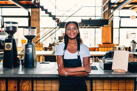 Portrait of a smiling barista