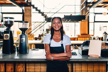 Portrait of a smiling barista