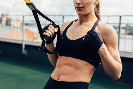 Cropped shot of female athlete