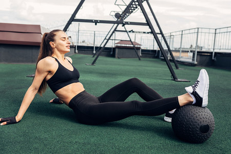 Fitness woman relaxing