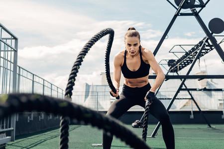 Woman in fitness wear