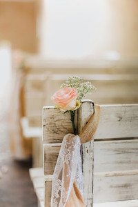 Rose on ceremony chair