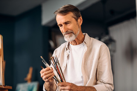 Portrait of senior painter
