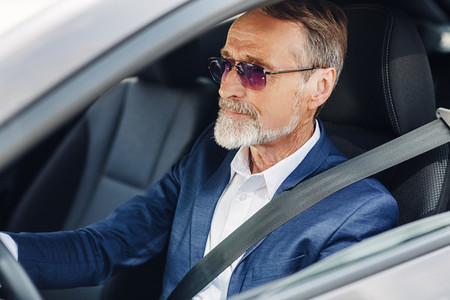 Mature businessman with glasses