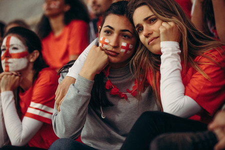 Upset group of english soccer fans