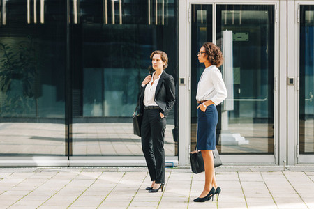 Two women colleagues standing