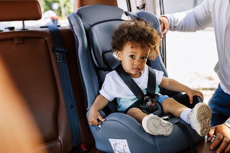 Little boy sitting on the seat