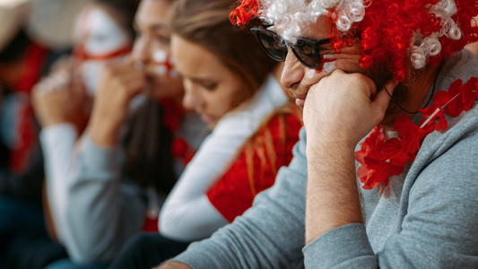 English fans upset about defeat of football team