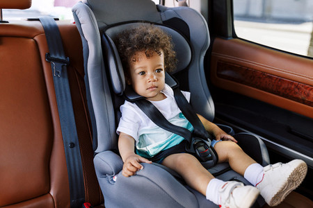 Boy in a car seat
