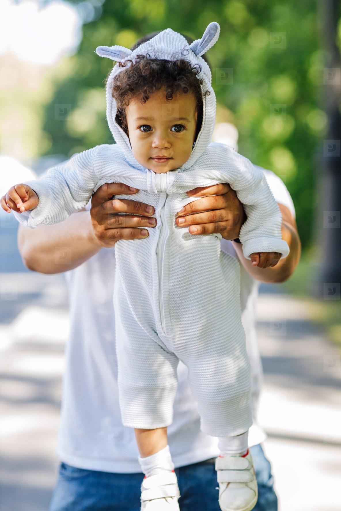 Cute little boy looking