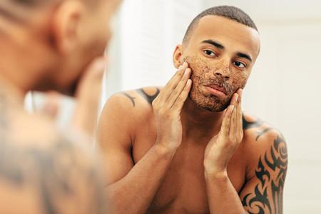 African American man applying