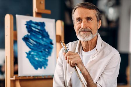 Portrait of bearded painter