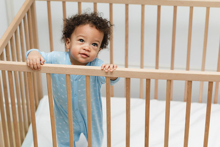 High angle portrait of cute baby