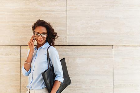 Modern businesswoman standing