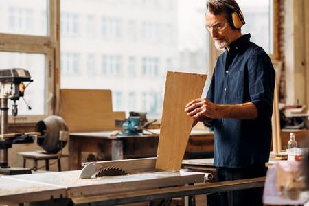 Male carpenter indoors