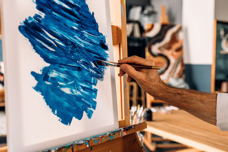 Hand of a painter