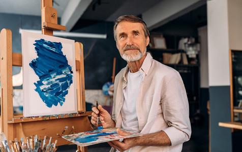 Portrait of a senior painter