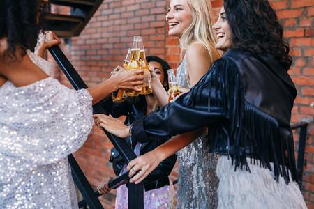 Group of women having drinks