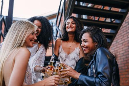 Beautiful laughing friends