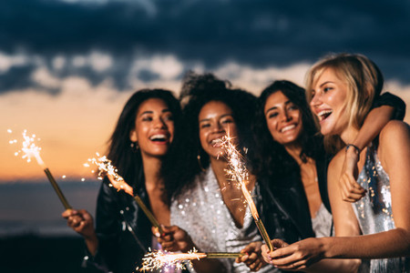 Close up of happy women
