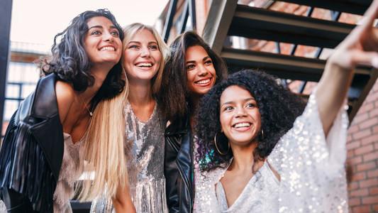 Four women on the street