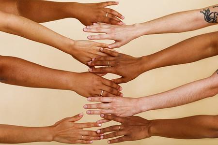 Four unrecognizable diverse