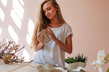Young female ceramic artist