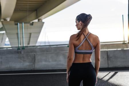 Rear view of woman in sportswear