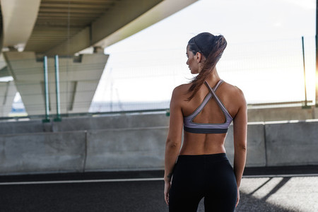 Rear view of woman in sportswear