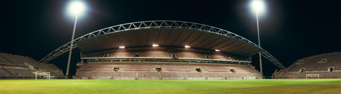 Huge empty football arena