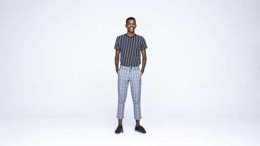 Cheerful african man