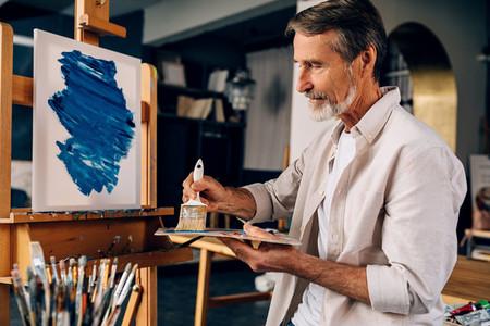 Artist in the studio