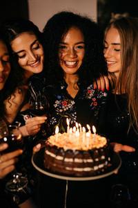 Young happy women