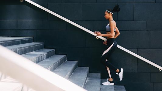 Side view of woman in sportswear