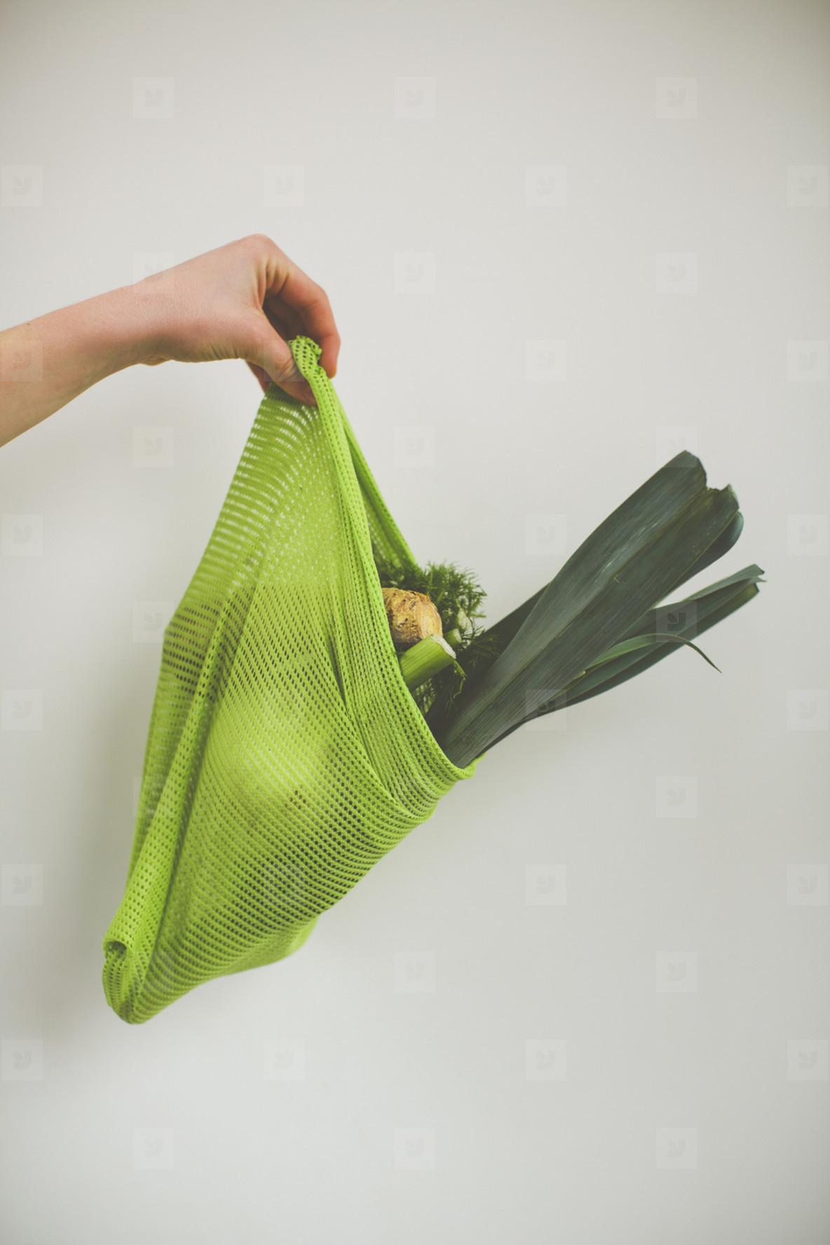 fresh bio vegetable cotton mesh bag