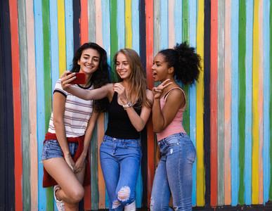 Group of women taking selfie