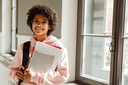 University student with books