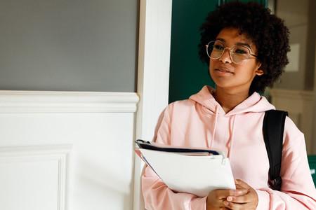 Student girl standing