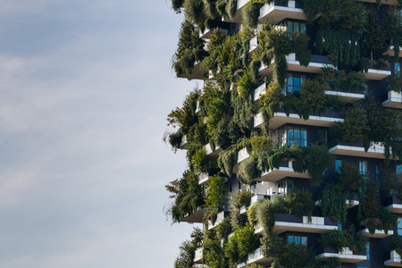 ITALY  MILAN   22 SEPTEMBER  2017 Bosco Verticale  the vertical forest building